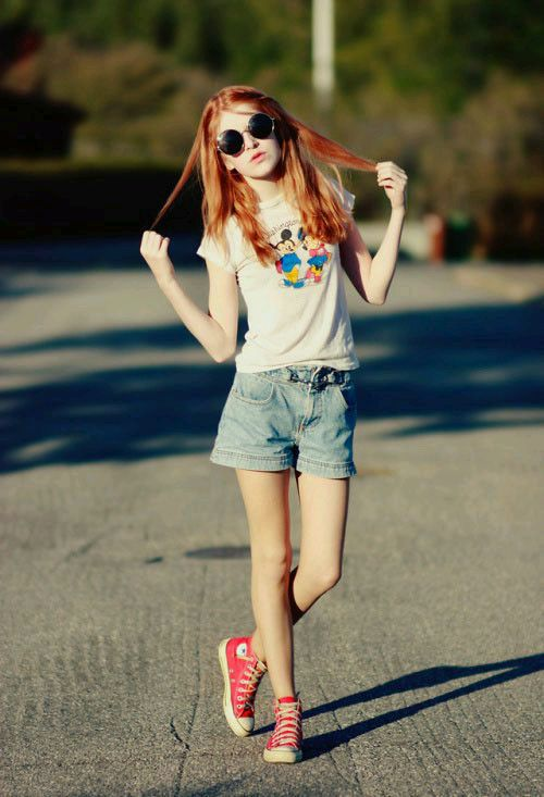 外国少女的穿束