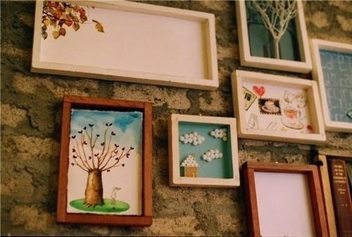 墙面装饰 清新唯美图片